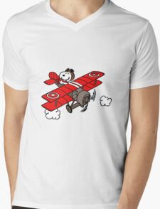 flying snoopy Mens V-Neck T-Shirt