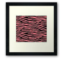 0105 Candy Pink or Tango Pink Tiger Framed Print