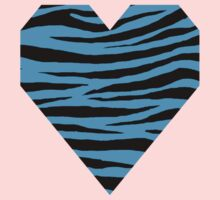 0106 Deep Sky Blue or Capri Tiger Kids Tee