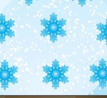 Snowflake Snowglobe. Sticker