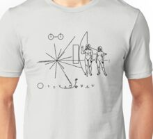 We come in peace - Hippy message to alien civilisations Unisex T-Shirt