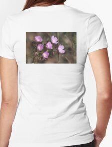 Pretty Pink Sundew Womens Fitted T-Shirt