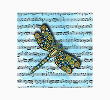 Dragonfly Music Sheet Blue Classic T-Shirt