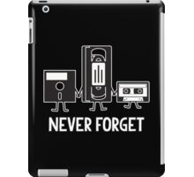 never forget iPad Case/Skin