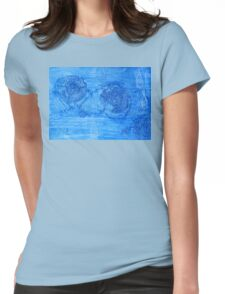 Ocean Currents  - Mixed Media Womens Fitted T-Shirt