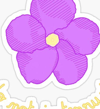 Do not Interrupt - Purple Flower Sticker
