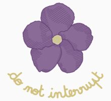 Do not Interrupt - Purple Flower One Piece - Short Sleeve