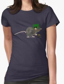 St Patrick's Rat - by Anne Winkler Womens Fitted T-Shirt