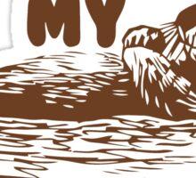 otter shirt Sticker