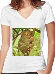 TARSIER Women's Fitted V-Neck T-Shirt
