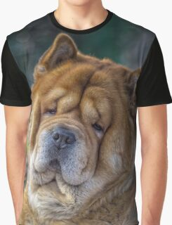 Cute chow dog portrait Graphic T-Shirt