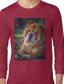 Cute chow dog portrait Long Sleeve T-Shirt