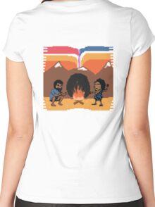 Prehistoric Acid Trip Women's Fitted Scoop T-Shirt