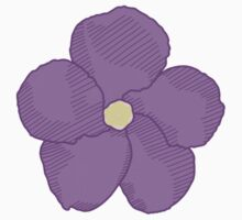 Purple Flower One Piece - Long Sleeve