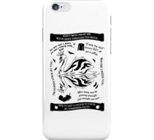SwanQueen Quote Tee. Evil Regal. Dark Swan. iPhone Case/Skin