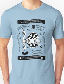 SwanQueen Quote Tee. Evil Regal. Dark Swan. T-Shirt
