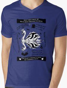 SwanQueen Quote Tee. Evil Regal. Dark Swan. Mens V-Neck T-Shirt