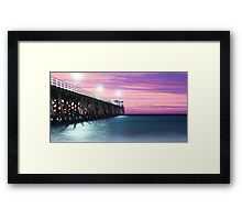 Grange Jetty: Crimson sunset  Framed Print