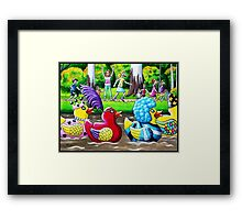 The Duck Race Framed Print