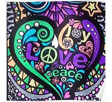 Mosaic of Peace & Love Poster