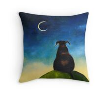 Moon Gazing Throw Pillow
