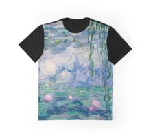 Water Lilies Claude Monet Fine Art Graphic T-Shirt