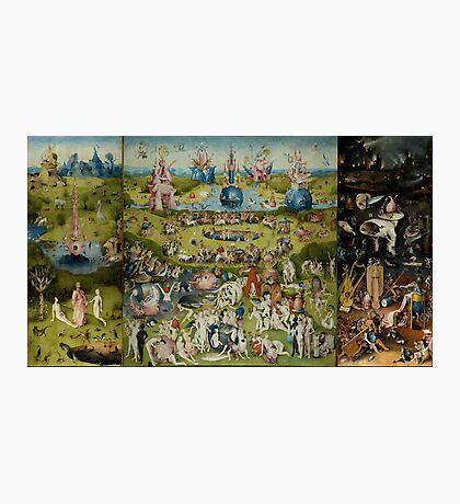 Hieronymus Bosch - The Garden Of Earthly Delights.  The Garden love - delight, eden, god, hell, adam, animal, bird, couple, fountain, monster, religion, fantasy, fish,  fruit Photographic Print