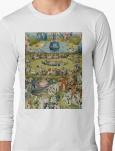 Hieronymus Bosch - The Garden Of Earthly Delights  Long Sleeve T-Shirt