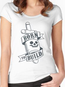 Master Builders only - clear Women's Fitted Scoop T-Shirt