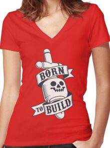 Master Builders only - clear Women's Fitted V-Neck T-Shirt