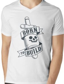 Master Builders only - clear Mens V-Neck T-Shirt