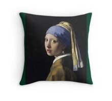 Johannes Vermeer - The Girl With A Pearl Earring Throw Pillow