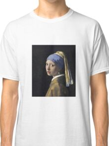 Johannes Vermeer - The Girl With A Pearl Earring Classic T-Shirt
