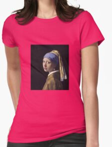 Johannes Vermeer - The Girl With A Pearl Earring Womens Fitted T-Shirt