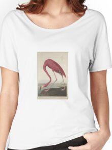 John James Audubon American Flamingo  Women's Relaxed Fit T-Shirt
