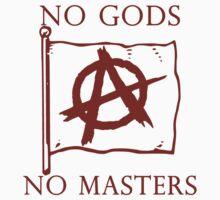 No Gods, No Masters - Anarchy Flag . Kids Tee