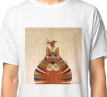 Fat Cat and Friend Orange Classic T-Shirt