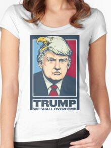 """We Shall Overcomb"" - Donald Trump Women's Fitted Scoop T-Shirt"