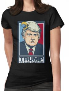 """""""We Shall Overcomb"""" - Donald Trump Womens Fitted T-Shirt"""