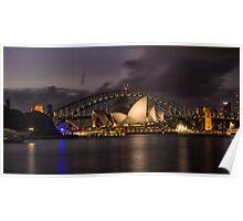 Sydney Opera at the Bridge Poster