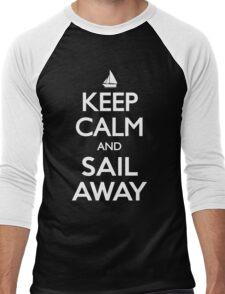 Keep Calm and Sail Away Sailing Yacht T Shirt Men's Baseball ¾ T-Shirt