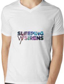 Sleeping With Sirens Logo Galaxy Mens V-Neck T-Shirt