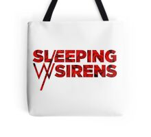 Sleeping With Sirens Logo Roses Tote Bag