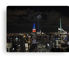 New York 9/11 Tribute from Top of the Rock, September 11th 2015 Canvas Print