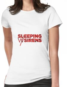 Sleeping With Sirens Logo Roses Womens Fitted T-Shirt