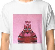 Fat Cat and Friend Pink Classic T-Shirt