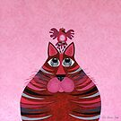 Fat Cat and Friend Pink by Lisafrancesjudd