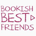 BOOKISH BEST FRIENDS pink matching with arrow right by jazzydevil
