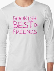 BOOKISH BEST FRIENDS pink matching with arrow right Long Sleeve T-Shirt