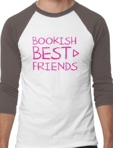 BOOKISH BEST FRIENDS pink matching with arrow right Men's Baseball ¾ T-Shirt